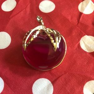 Vintage Sarah Coventry Lucite Cherry/Apple  Pin